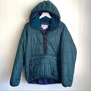 Vintage 80's L.L. Bean Puffer pullover jacket S